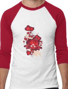 Love hearts Men's Baseball ¾ T-Shirt