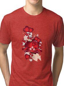 Love hearts Tri-blend T-Shirt