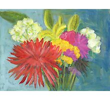 Birthday Flowers Photographic Print