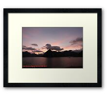 Wonderful Remembers Never Fade- My Travel Photography. Lofoten Islands . Norway  Anno Domini 2011. Andrzej Goszcz. Framed Print