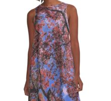 Fall Leaves in the Spring A-Line Dress