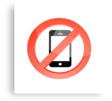 no telephones allowed Canvas Print