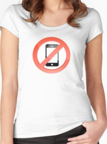 no telephones allowed Women's Fitted Scoop T-Shirt