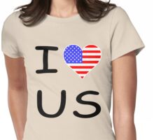 I LOVE US  Womens Fitted T-Shirt