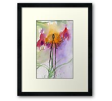Fuchsia abstract Framed Print
