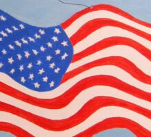 Butterflies on the Fourth of July Sticker