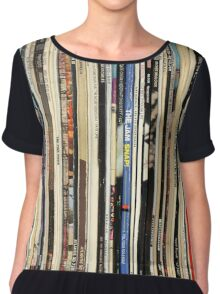 The Beatles, Led Zeppelin, The Rolling Stones - Classic Rock Albums Chiffon Top