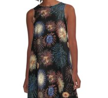 Firework Magic A-Line Dress