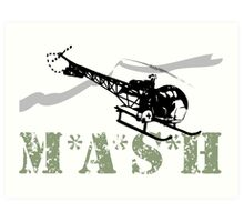 MASH Helicopter IN COMING Art Print