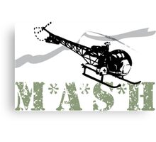 MASH Helicopter IN COMING Canvas Print