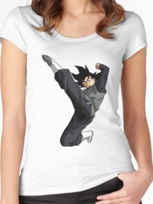 Black Goku Women's Fitted Scoop T-Shirt