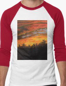Sunset Painting Men's Baseball ¾ T-Shirt