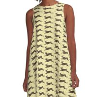 Leaping Hare A-Line Dress
