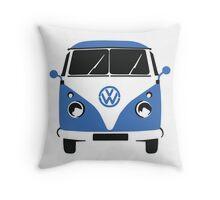 VW Camper Pillow Blue Throw Pillow