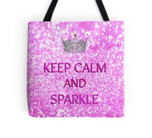Keep Calm and Sparkle Tote Bag