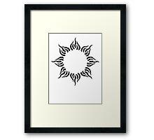 Sun Tribal Tattoo Beautiful Framed Print