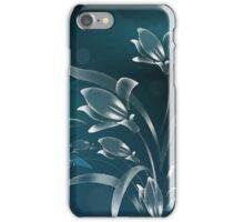 White Lilies in the Moonlight iPhone Case/Skin