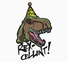 Rex-Cellent Dinosaur Theme Party for Kids and Adults Tyrannosaurus One Piece - Short Sleeve