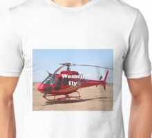 Women fly: Helicopter, red, aircraft Unisex T-Shirt