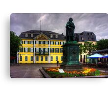 Central Post Office and Beethoven Memorial in Bonn Canvas Print
