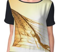 Sunrise Behind The United States Flag - Independence Day | Westhampton Beach, New York Chiffon Top