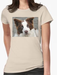 Blue Eyed Collie - NZ Womens Fitted T-Shirt