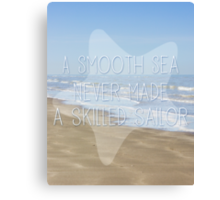 A Smooth Sea Canvas Print