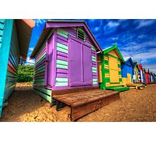 Brighton Beach Huts Photographic Print