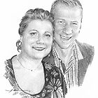 couple drawing by Mike Theuer