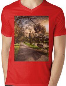 Winter Light Mens V-Neck T-Shirt