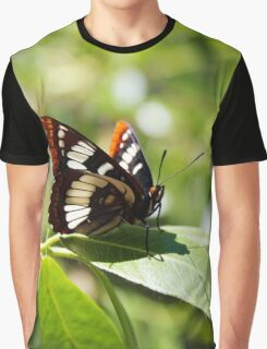 Stained Glass Butterfly Graphic T-Shirt