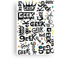 Geek Words Canvas Print