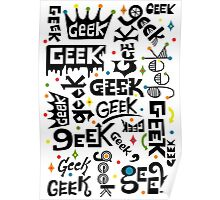 Geek Words Poster
