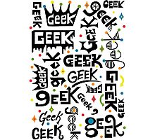 Geek Words Photographic Print