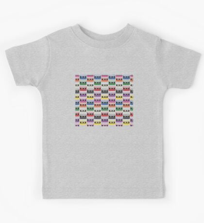 Cassettes In a Row Kids Tee