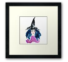 Which Watercolor Witch Framed Print