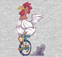 Cartoon Chicken Unicycle One Piece - Short Sleeve