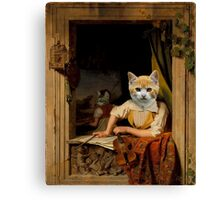 The Kitten Violinist - Anthropomorphic Composite Canvas Print