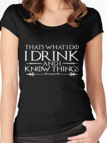 Men's I Drink Shirt Funny Drinking Wine Beer Books Smart Things Women's Fitted Scoop T-Shirt