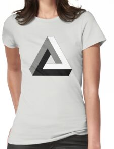 """Penrose Triangle """"Impossible Triangle"""" Womens Fitted T-Shirt"""