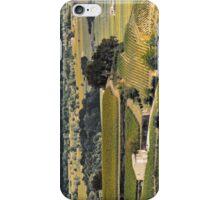 vintage vineyard landscape iPhone Case/Skin