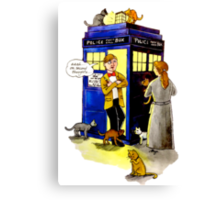 Cat Lady Companion Canvas Print
