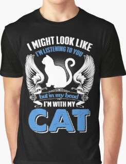 In My Head I'm With My Cat Graphic T-Shirt