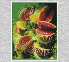 """VENUS FLY TRAP"" Flowered Poster Print One Piece - Long Sleeve"