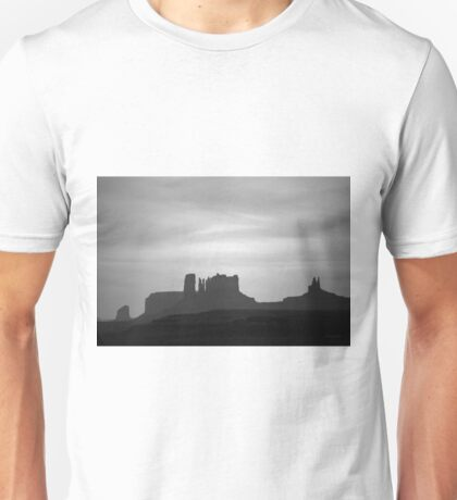 Monument Valley III BW Unisex T-Shirt