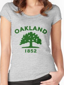 OAKLAND Women's Fitted Scoop T-Shirt