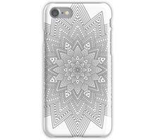 Grey Mandala iPhone Case/Skin