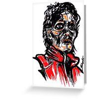 Thriller MJ Greeting Card