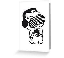 disko dj party musik brille funky cool kopfhörer club band konzert spielen zombie horror halloween  Greeting Card