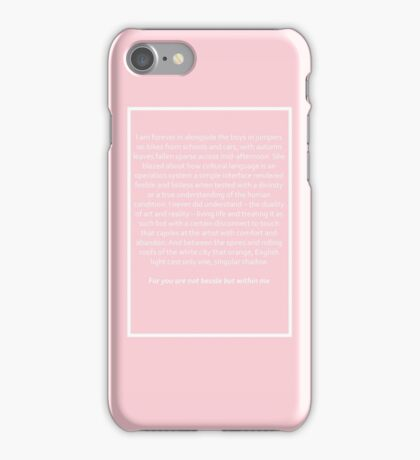 Loving Someone Spoken Word The 1975 iPhone Case/Skin